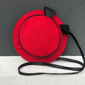 New Novelty Compact Hat Shaped Bag Red